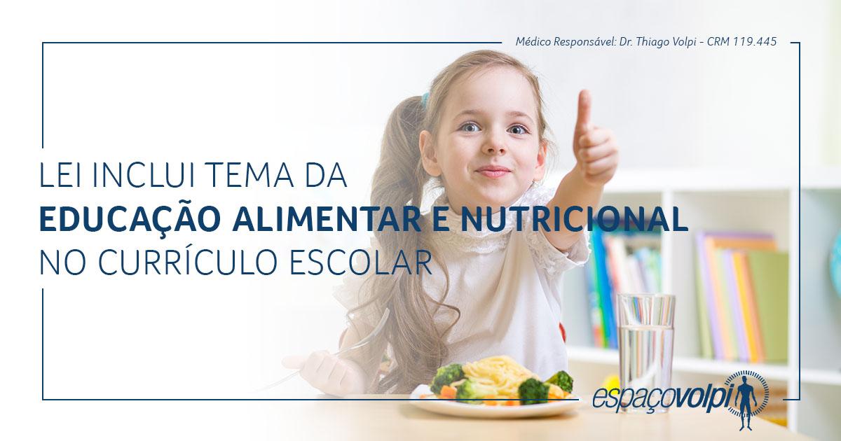 Lei educação alimentar e nutricional
